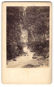 Fotografie J. Scherle, Bad Reichenhall, Ansicht Wimbachklamm, Partie am Wasserfall