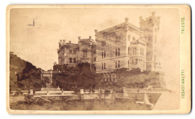 Fotografie Sebastianutti, Trieste, Ansicht Trieste-Triest, Schloss Miramare