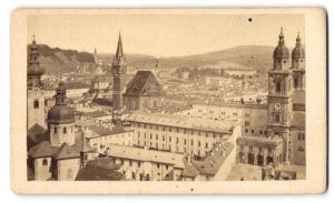 Fotografie Fotograf unbekannt, Ansicht Salzburg, Partie am Dom