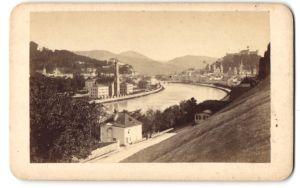 Fotografie Fotograf unbekannt, Ansicht Salzburg, Blick über die Salzach zur Festung