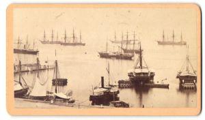 Fotografie Fotograf unbekannt, Ansicht Venezia-Venedig, Schiffe im Hafen und auf Reede