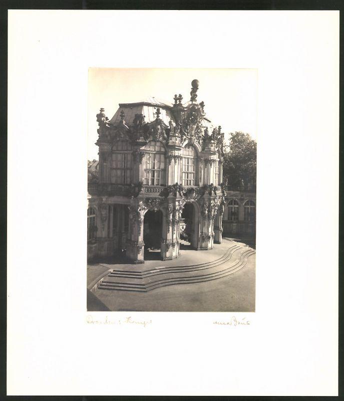 Fotografie Max Baur, Ansicht Dresden, Partie am Zwinger