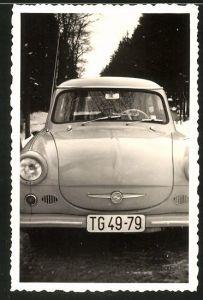 Fotografie G. Rudolph, Wilkau-Hasslau, Auto Sachsenring Trabant 600