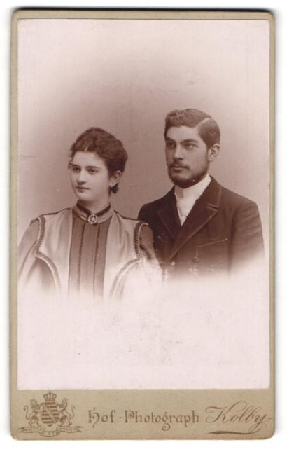 Fotografie Kolby, Zwickau, Portrait bürgerliches junges Paar