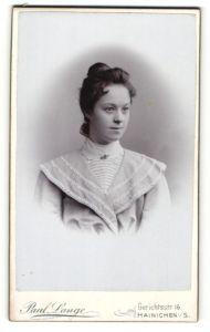 Fotografie Paul Lange, Hainichen i/S, Portrait hübsches Fräulein