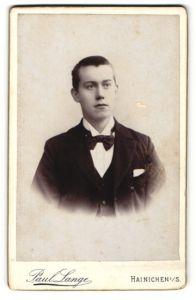 Fotografie Paul Lange, Hainichen i/S, Portrait bürgerlicher junger Mann