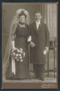 Fotografie Otto Gehler, Leipzig, Portrait Braut und Bräutigam