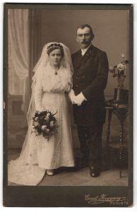 Fotografie Ernst Freygang, Penig i/S, Portrait Braut und Bräutigam