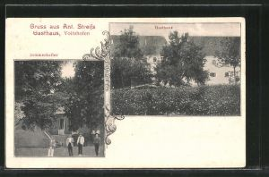 AK Voitshofen, Gasthaus von Ant. Streif, Sommerkeller