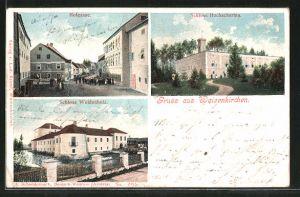 AK Waizenkirchen, Hofgasse, Schloss Weidenholz