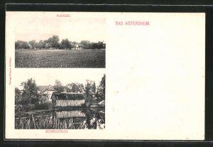 AK Bad Aistersheim, Partie am Schmiedteich, Augasse