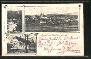 AK Walding, Ortsansicht, Gasthaus Fz. Pöttl's