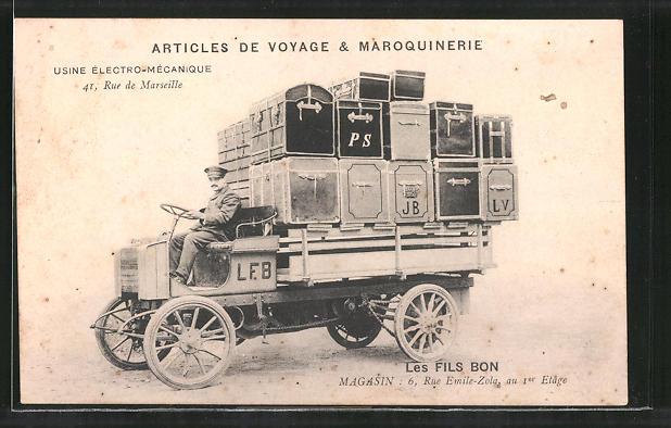 AK Lyon, Articles de Voyage & Maroquinerie, Usine Électro-Mécanique, 41 Rue de Marseille