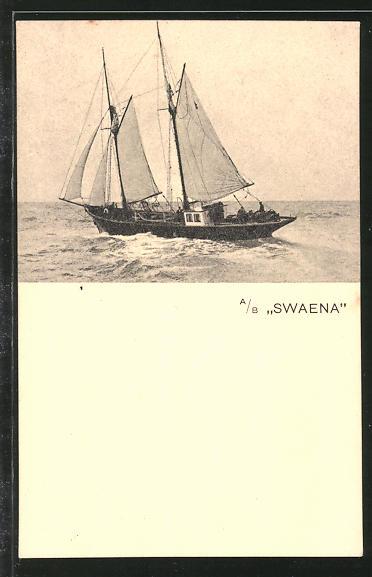 AK Segelschiff A/B Swaena auf See