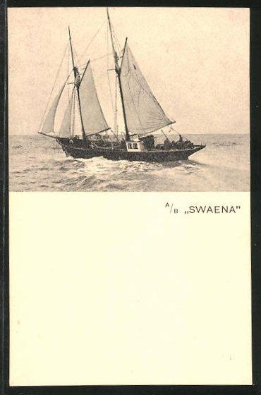 AK A/B Swaena auf See, Segelschiff