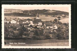 AK Raab, Ortsansicht mit Kirchturm
