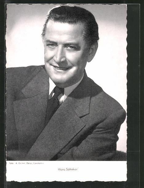 AK Schauspieler Hans Söhnker im Anzug porträtiert