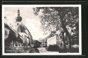 AK Waldneukirchen, Strassenmotiv an der Kirche