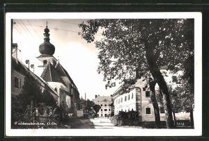 AK Waldneukirchen, Strassenpartie an der Kirche