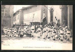 AK Balcé, procession de la Fête-Dieu