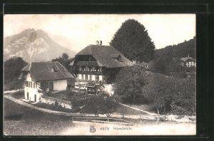 AK Hondrich, Blick auf ein Wohnhaus mit Nebengebäude