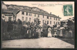 AK Thoiry, La Mairie, Les Ecoles, Le Margerizaz