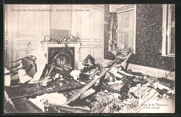 AK Armentières, Souvenier des Greves d' Armentières, Journey du 13 Octobre 1903