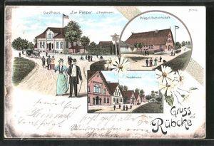 Lithographie Rübke, Gasthaus