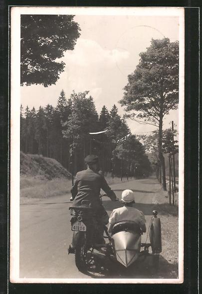 Ausflug mit motorrad