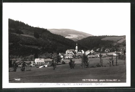 AK Rettenegg, Teilansicht gegen Süden
