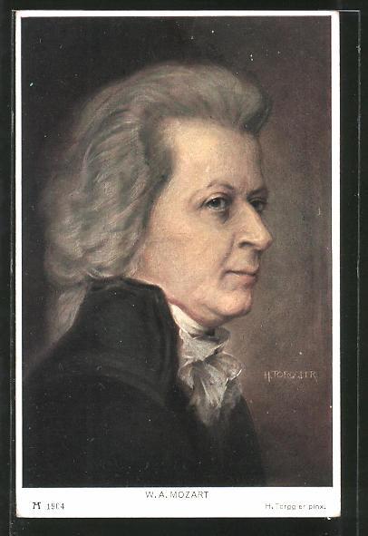 Künstler-AK Hermann Torggler: W. A. Mozart