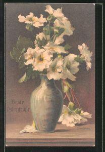 Künstler-AK Clara von Sivers: Weisse Blumen in der Vase