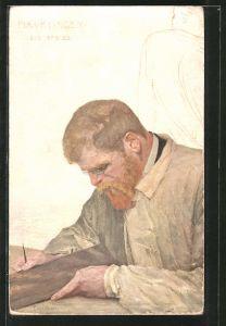 Künstler-AK Max Klinger: Porträt des Künstlers v. C. Stoeving