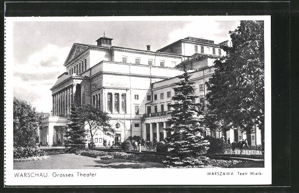 AK Warschau-Warszawa, Grosses Theater, Teatr Wielki