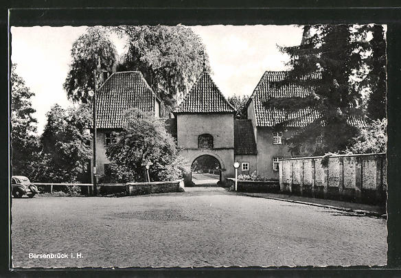 AK Bersenbrück, Ortsansicht auf Torbogen