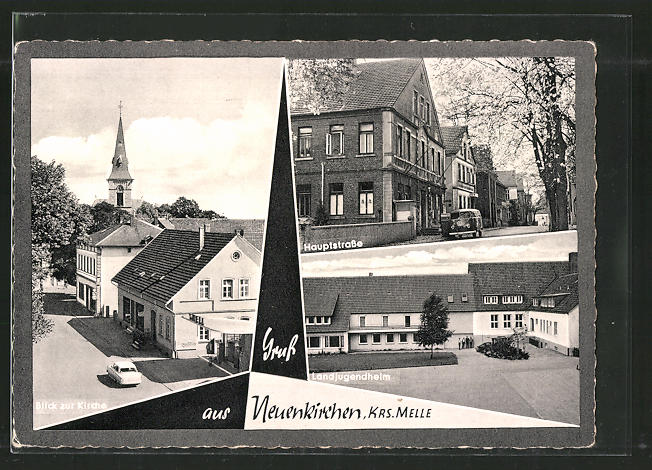 AK Neuenkirchen, Kirche, Hauptstrasse, Landjugendheim