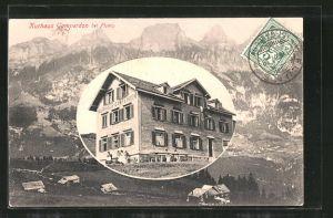 AK Flums, Kurhaus Gamperdon, Bergpanorama