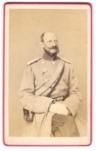 Fotografie Photographgische Gesellschaft, Berlin, Portrait Generaloberst Prinz Albrecht von Preussen