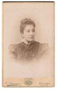 Fotografie E. Bissinger, Erfurt, Portrait bürgerliche junge Dame