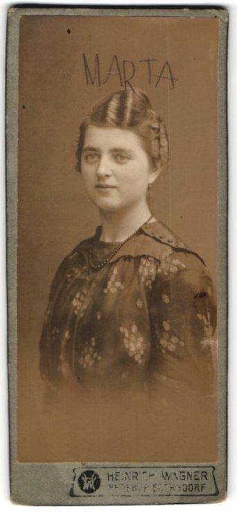 Fotografie Heinrich Wagner, Ehrenfriedersdorf, Portrait elegante junge Dame