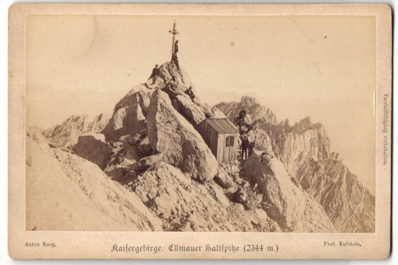 Fotografie Anton Karg, Kuftsein, Ansicht Ellmauer Haltspitze, Kaisergebirge