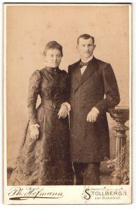 Fotografie Ph. Hofmann, Stollberg i/S, Portrait junges bürgerliches Paar