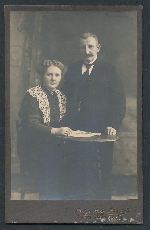 Fotografie Atelier Hansa, Lübeck, Portrait älteres bürgerliches Paar