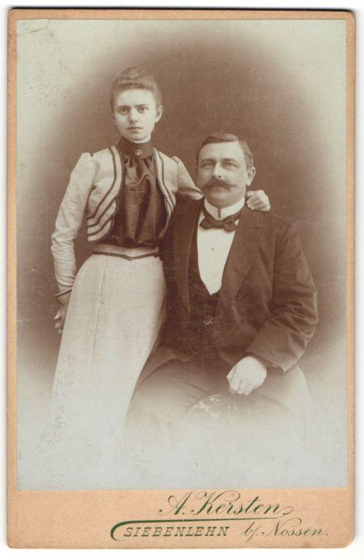 Fotografie A. Kersten, Siebenlehn, Portrait Vater und Tochter