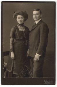 Fotografie Atelier Ehrlich, Dresden-N, Portrait bürgerliches junges Paar