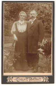 Fotografie unbekannter Fotograf und Ort, Portrait bürgerliche Eheleute