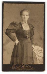 Fotografie Emil Winzer, Potschappel, Portrait bürgerliche Dame