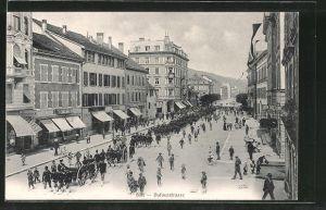 AK Biel, Parade in der Dufourstrasse