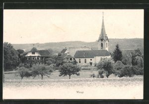 AK Wengi, Ortsansicht mit Kirche