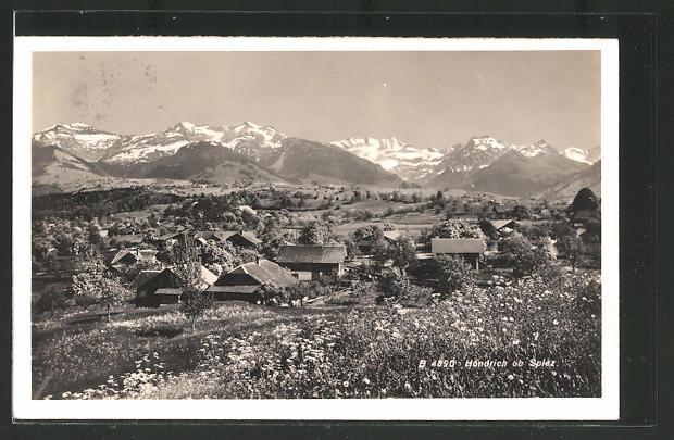 AK Hondrich, Ortspartie im Gebirge